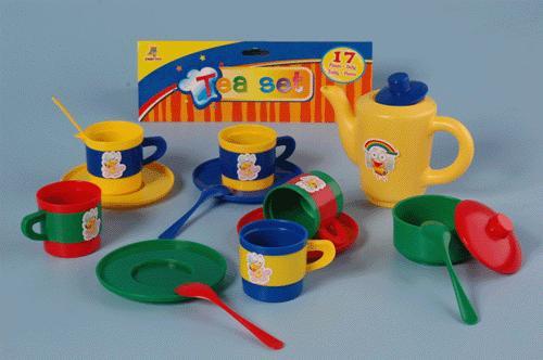 Kinder speelgoed servies setje 17 delig