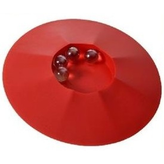 Speelgoed knikkerpotjes rood 17 cm