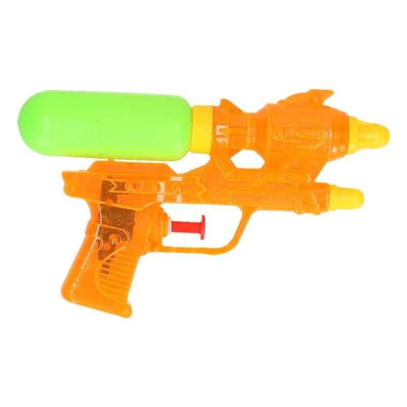 Mini waterpistolen oranje 18 cm