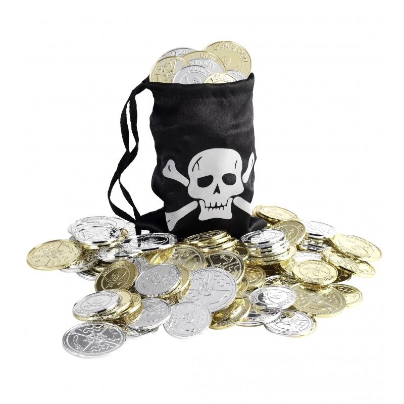 Piraten munten met buidel