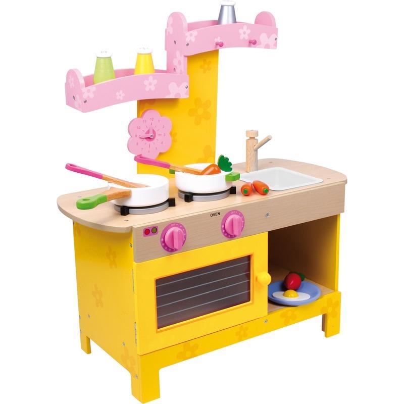 Houten speelkeuken voor meiden 57 x 25 x 64 cm