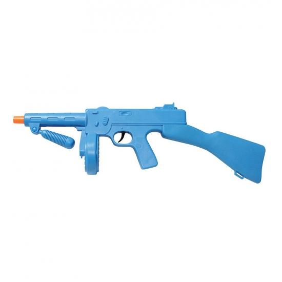 Blauwe tommy gun speelgoed geweer 49 cm