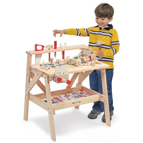 Speelgoed werkbank met gereedschap