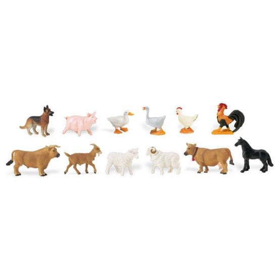 Plastic speelgoed figuren boederij dieren