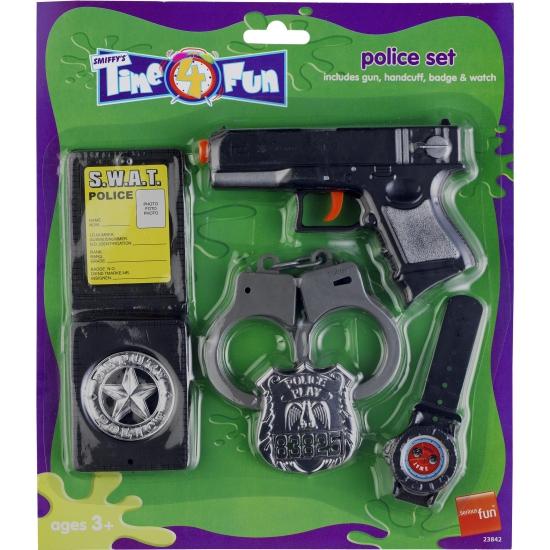 Politie speelgoed verkleed setje 5 delig