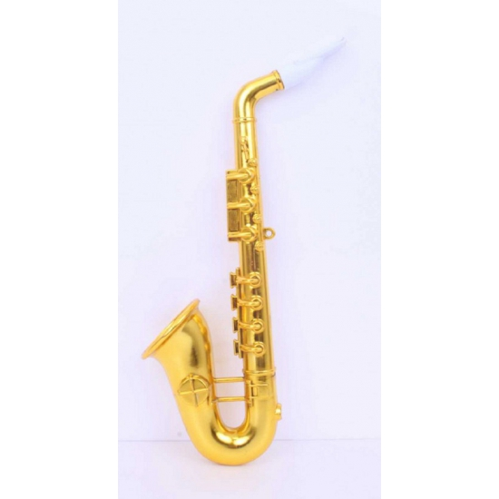 Gouden speelgoed saxofoon 37 cm