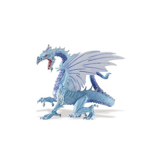 Plastic speelgoed blauwe draak 15 cm