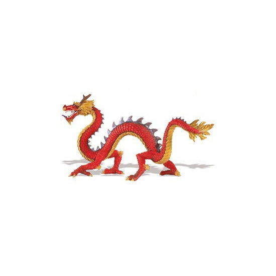 Plastic speelgoed chinese draak 19 cm