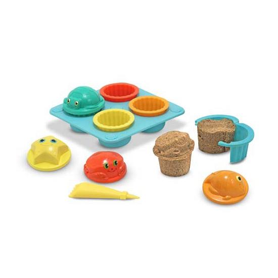 Zand speelgoed set cupcakes