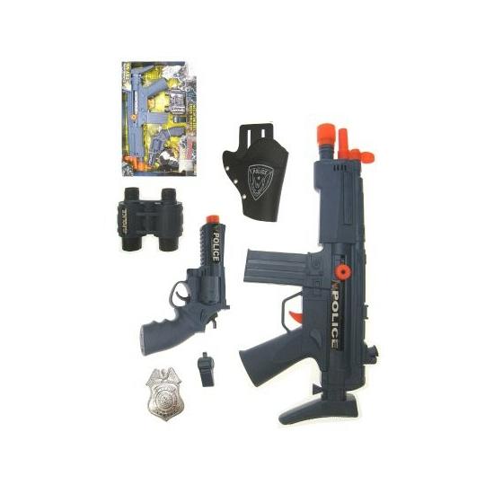Politie verkleed speelgoed set 6 delig