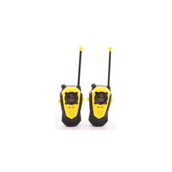 Gele walkie talkie speelset