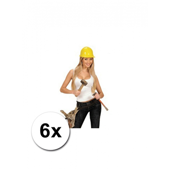 6 bob de bouwer helmen volwassenen