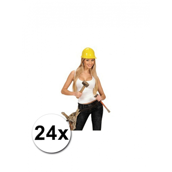 24 bob de bouwer helmen volwassenen