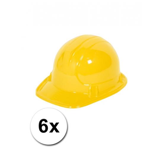 6 bouwhelmen voor kinderen