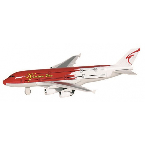 Speelgoed vliegtuigje rood wit
