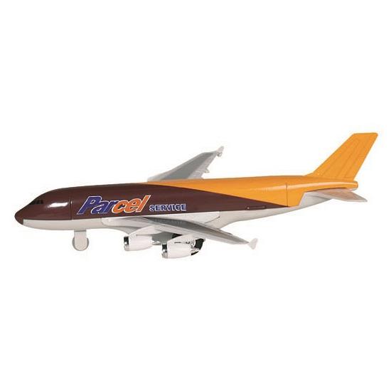 Speelgoed vliegtuigje bruin geel