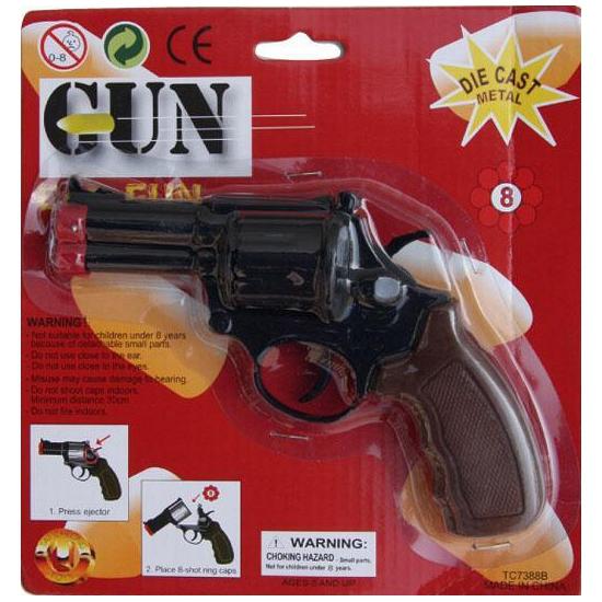 Zwarte detective speelgoed pistool revolver