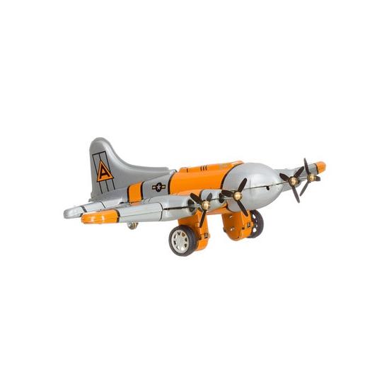 Blikken speelgoed vliegtuigje 16 cm