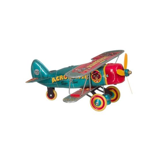 Blikken speelgoed vliegtuigje 18 cm