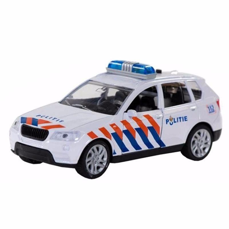 Speelgoed politie auto met sirene 12 cm
