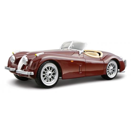 Speelgoedauto jaguar xk 120 cabriolet rood 1 24