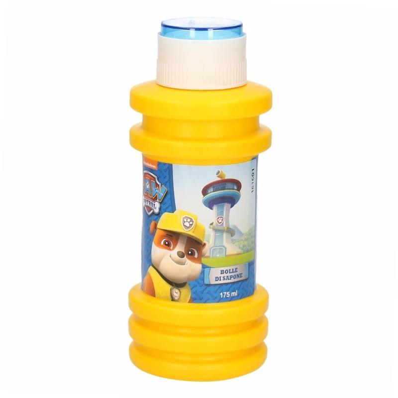 1x kinder maxi bellenblaas paw patrol 175 ml gekleurd flesje