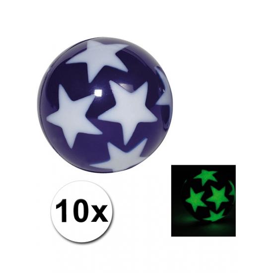 10 stuiterballetjes glow in the dark sterren