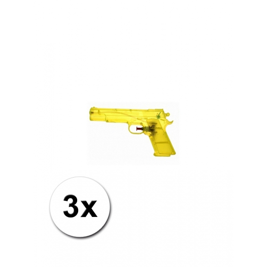 3 voordelige waterpistolen geel