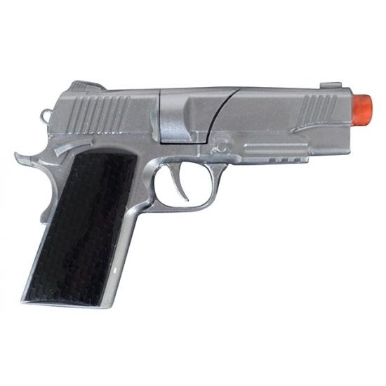 Zilveren speelgoed pistool 8 shots 10078995