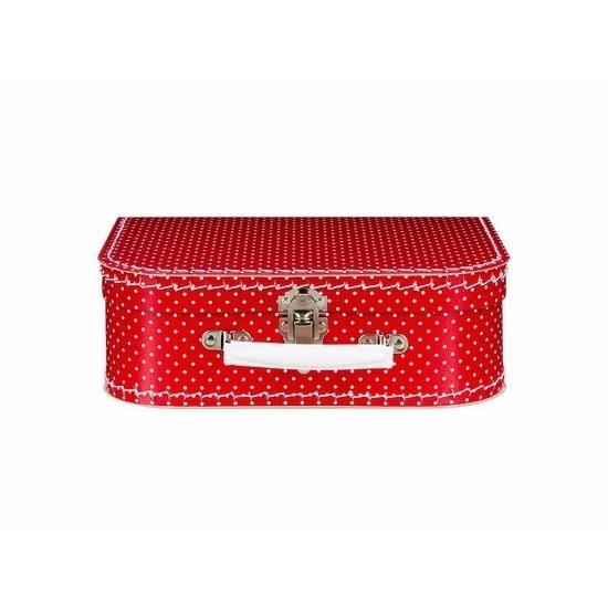 Kinderkoffertje rood polka dot 25 cm