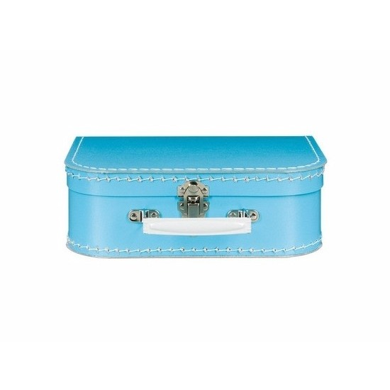 Kinderkoffertje blauw 25 cm