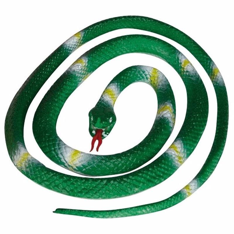Groene speelgoed slangen 140 cm