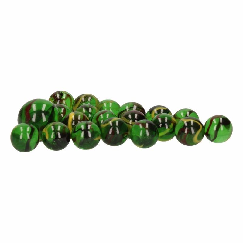 Glazen knikkers speelgoed 21x green dino