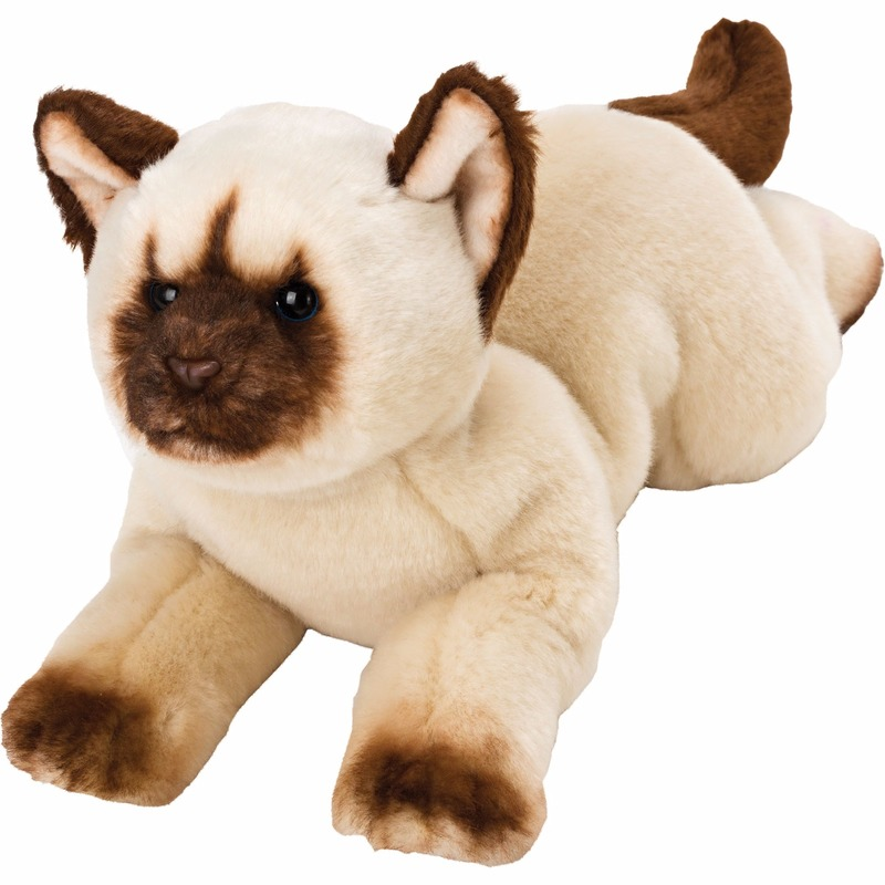 Speelgoed knuffel pluche himalayan poes kat 33 cm