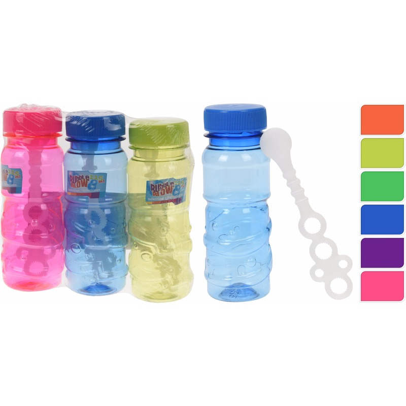 Speelgoed gekleurde bellenblaas flesjes 3 stuks x 115ml 10089612