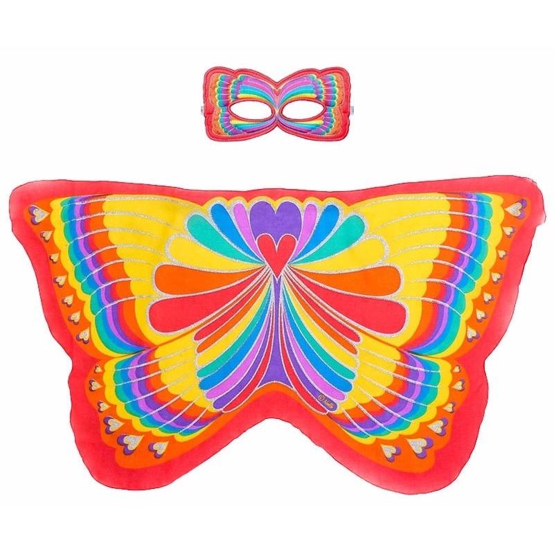 Speelgoed rode regenboogvlinder verkleedset