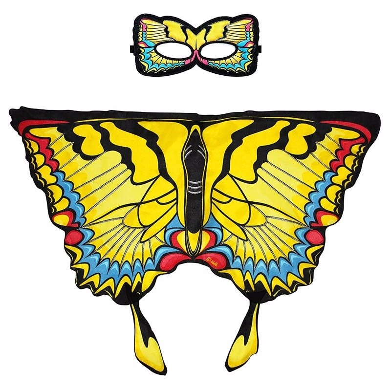 Speelgoed gele zwaluwstaart vlinder verkleedset