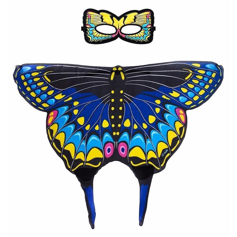 Speelgoed blauwe zwaluwstaart vlinder verkleedset