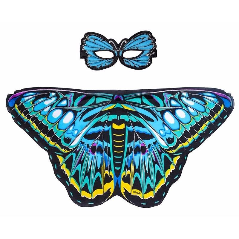 Speelgoed blauwe aurelia vlinder verkleedset