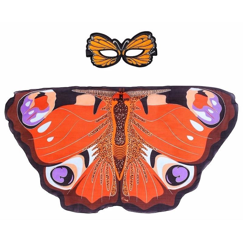 Speelgoed dagpauwoog vlinder verkleedset