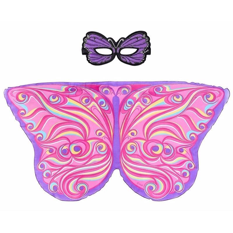 Speelgoed paars roze vlinder verkleedset