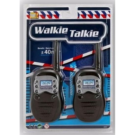 Speelgoed oranje witte walkie talkie bereik 40 meter