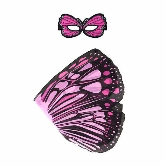 Speelgoed roze monarchvlinder verkleedset