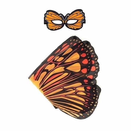 Speelgoed oranje monarchvlinder verkleedset