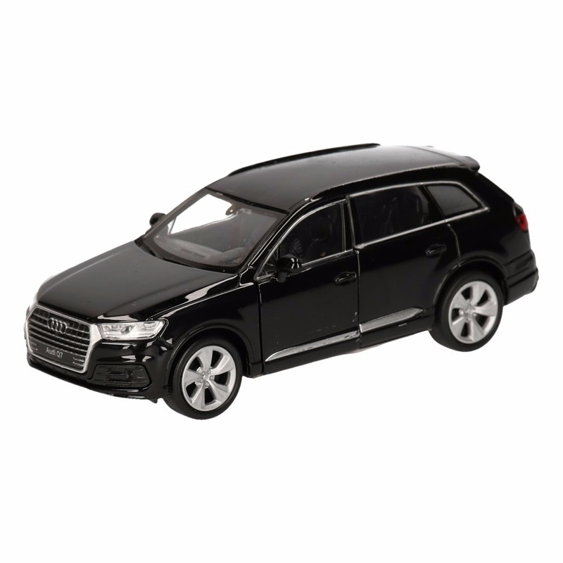 Speelgoed audi q7 zwart autootje 12 cm