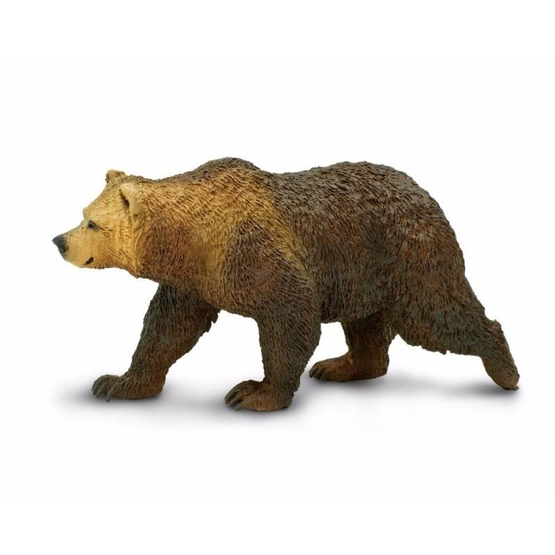 Speelgoed nep grizzly beer 12 cm
