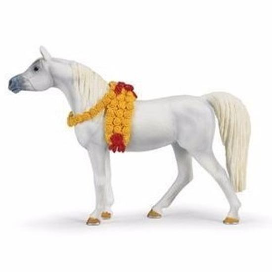 Speelgoed nep wit paard arabieren merrie 14 cm