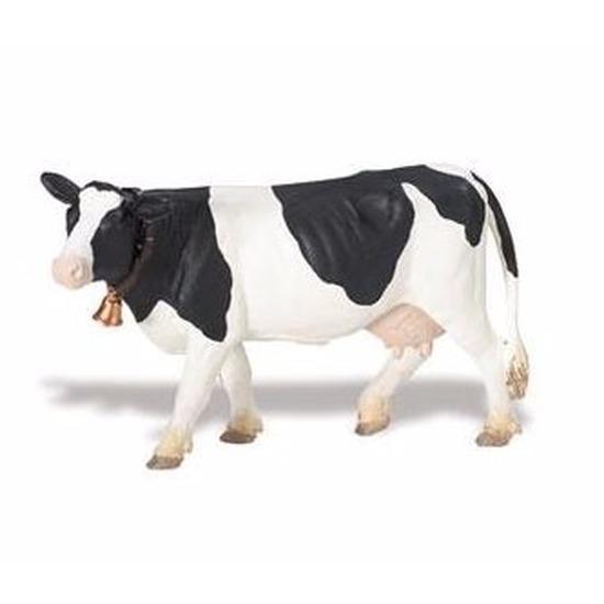 Speelgoed nep koe zwart wit 12 cm
