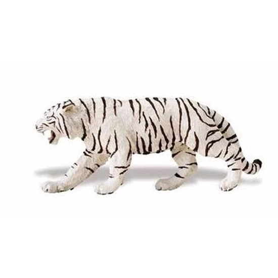 Speelgoed nep witte tijger 15 cm