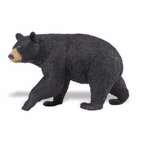 Speelgoed nep zwarte beer 11 cm